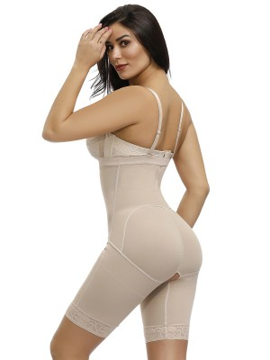 Magic Boost Skin Full Body Shaper Large Size Lace Trim Open Crotch