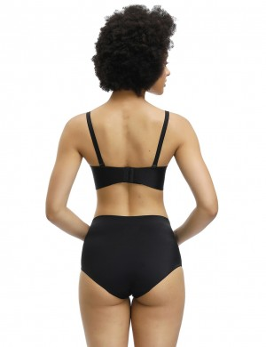 Must-Have Black Solid Color High Elastic Butt Enhancer Panty Slim Waist