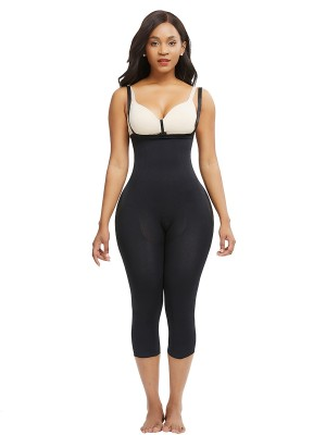 Thermo Heating Black Adjustable Straps Big Size Body Shaper Curve-Creating