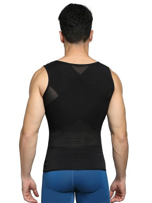 Favorite Black Three Rows Hooks Men's Tank Adjustable Band Superior Quality