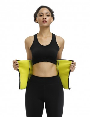 Black Flatten Tummy Zipper Neoprene Wasit Trainer Fat Burning