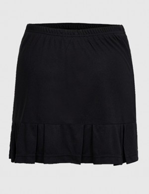 Best Design Black Pleated Solid Color Mini Tennis Skirt Fashion Trend