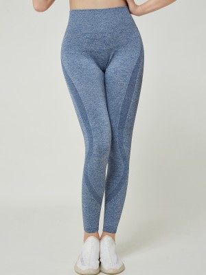 Ravishing Light Blue Full Length High Rise Sport Leggings Soft