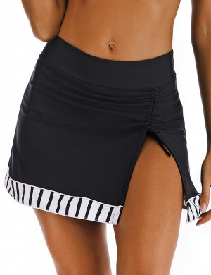 Sultry Big Size Slit Side Beach Skirt Drawstring For Poolside Days