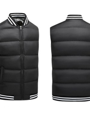 Stripe Black Heating Vest With USB Charging Understated Design