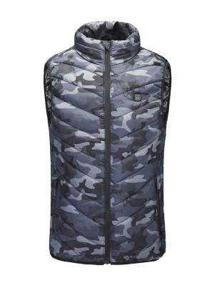 Camo Print Armhole Design Heated Jacket Fashion Clothing Online