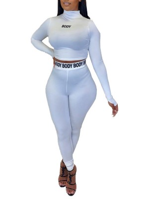 White Women Suit With Thumbhole High Waist Slimming Fit