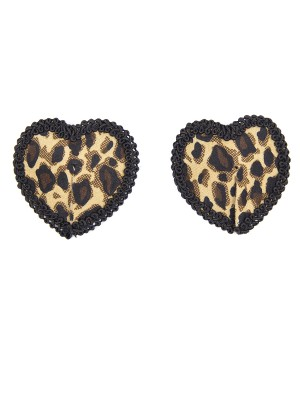 Romamce Pasties Bra Leopard Paint Silicone For Slim Woman