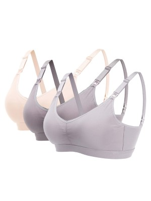 Comely Maternity Detachable U-Shaped 3 Pcs Bras For Woman Fashion Online