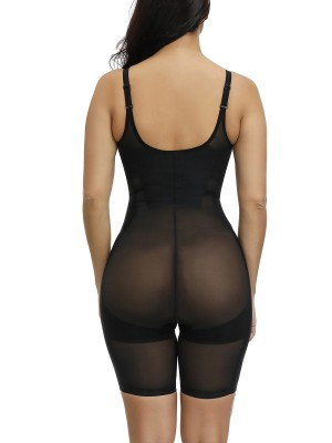 Lightweight Black Adjustable Straps Plus Size Shape Bodysuit Waist Slimmer