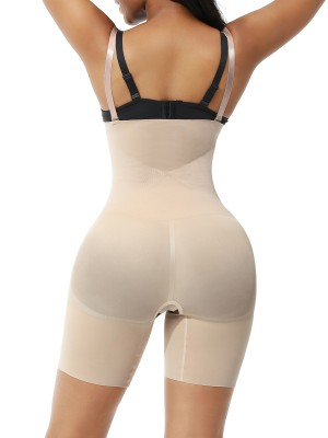 Nude Seamless Body Shaper Shorts Open Gusset Custom Logo