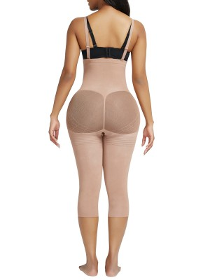 Nude Seamless Adjustable Straps Full Body Shaper Figure Slimmer