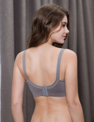 Antibacterial Open Front Maternity 3 Pcs Bras With Extenders