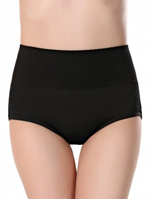 Women's Black High Waist Period Panties Leakproof Female's High Grade