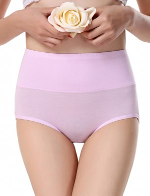 Hot Trend Light Pink Bamboo Fiber Period Panty Three Layers For Slim Woman