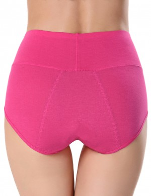 Funny Rose Red Plain Physiological Panties High Rise Wholesale Inexpensive