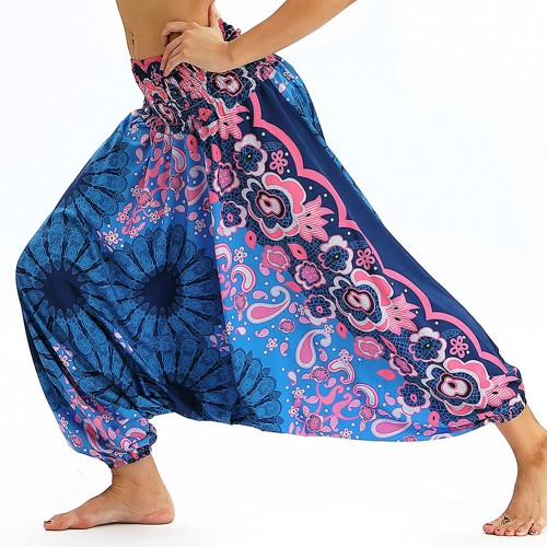 Campus Digital Printing Waist Elastic Band Trousers Home Clothes