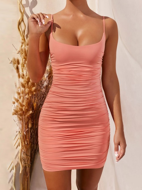 PINK SEXY BODYCON DRESS