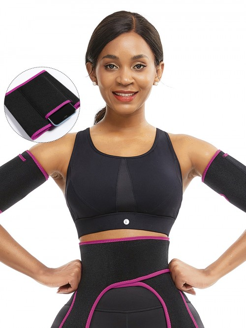 Rose Red Neoprene Two Pieces Sticker Arm Shaper Calories Burning