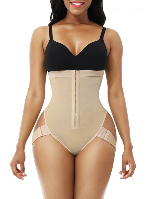 Nude 2 Bones Hook High Waist Shapewear Thong Midsection Compression