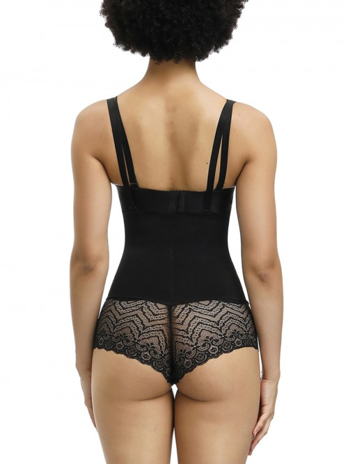 Ventilate Black Full Body Shaper Sheer Mesh Push Up