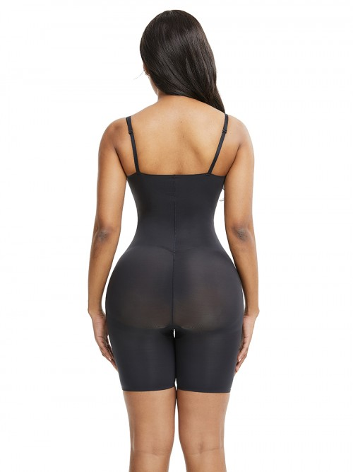 Black Adjustable Straps Big Size Full Body Shaper Compression Silhouette