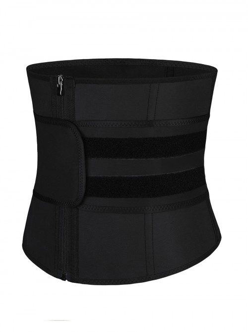 Black Big Size Latex Waist Trainer 7 Steel Bones Fitness