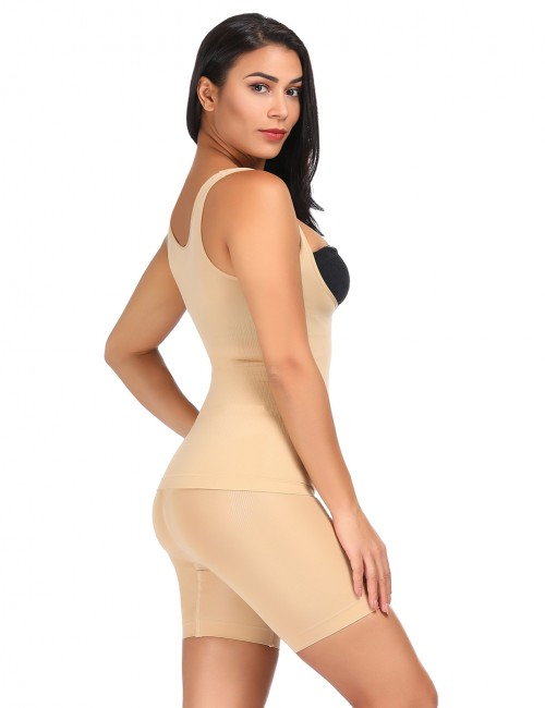Unique Nude High Waist Shapewear Sets 4 Steel Bones Intant Shaping
