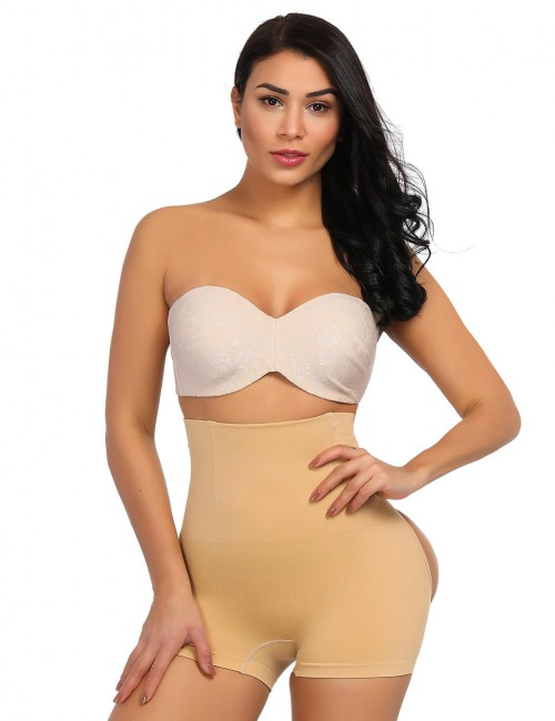 Affordable Nude 4 Steel Boned High Rise Booty Enhancer Distinctive Look