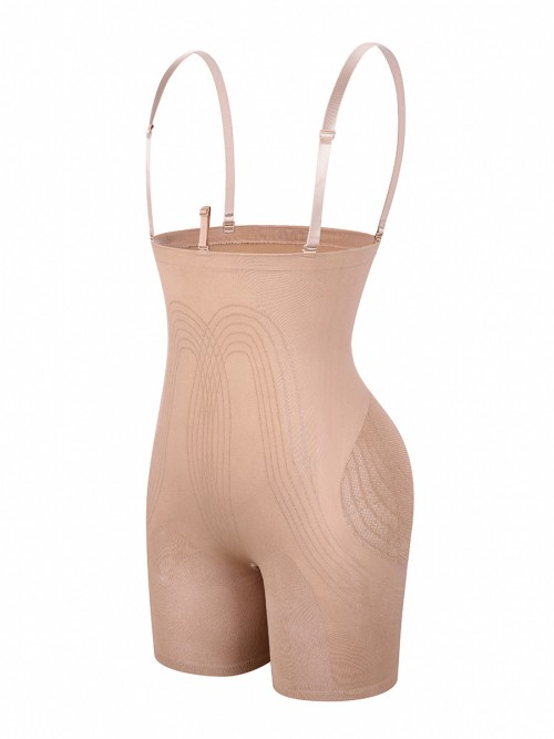 Skin Color Tummy Control Seamless High Waist Shapewear Hourglass