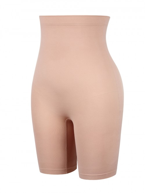 Nude Seamless Butt Lifter Shorts Anti-Slip Slimming Tummy
