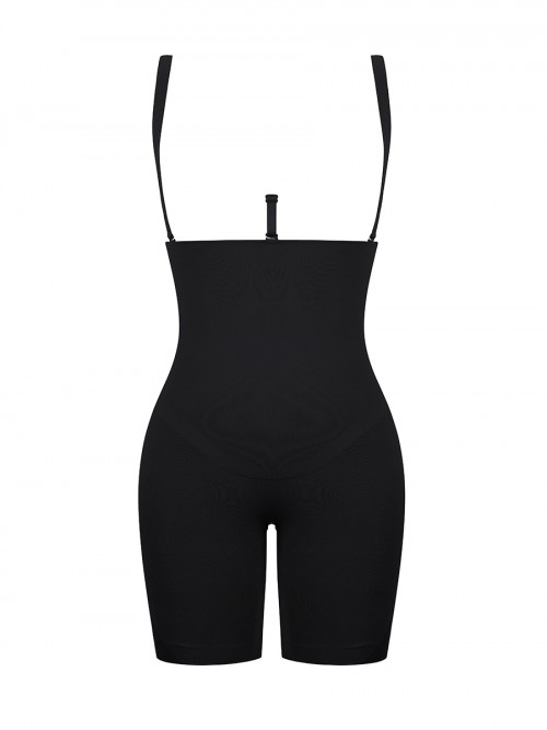 Black Queen Size Open Gusset Body Shaper Lose Weight