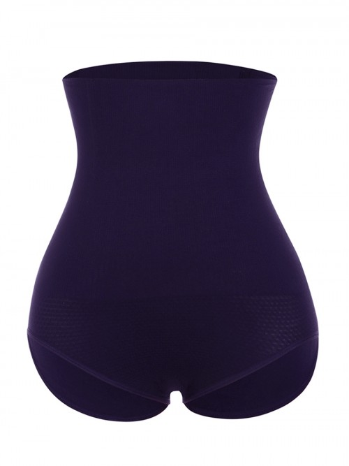 Ultimate Dark Purple High Waist Seamless Panty Large Size High Quality