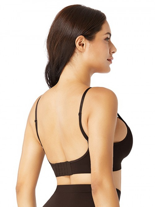 Deep Coffee Push Up Seamless Bra Removable Pads Best Materials