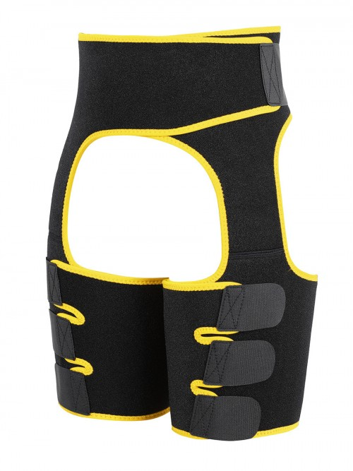 Yellow Butt Lifting Neoprene Thigh Shaper Abdominal Control