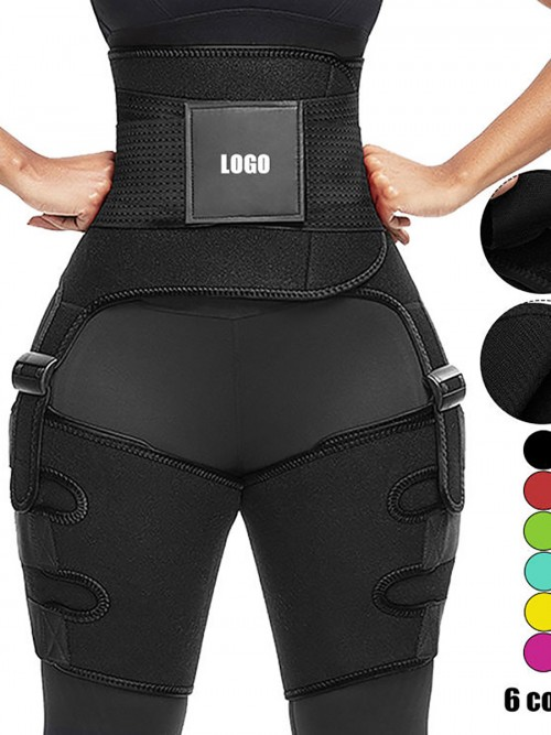 Black Neoprene Thigh Trimmer Waist Trainer Shaper For Workout