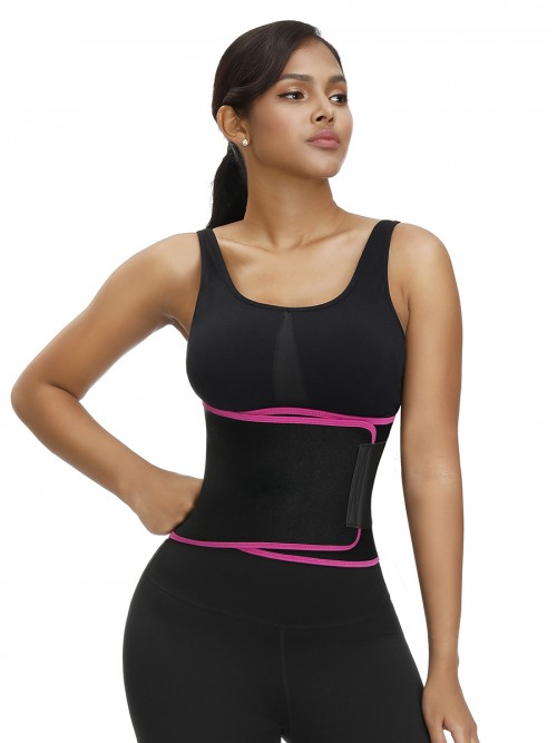 Firm Foundations Rose Red Neoprene Waist Cincher Sticker Double Layers