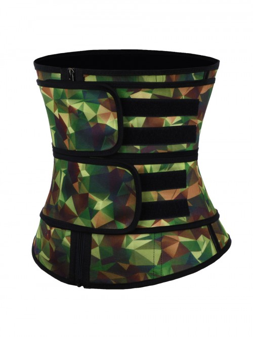 Camo Latex Double Belts Waist Trainer Highest Compression