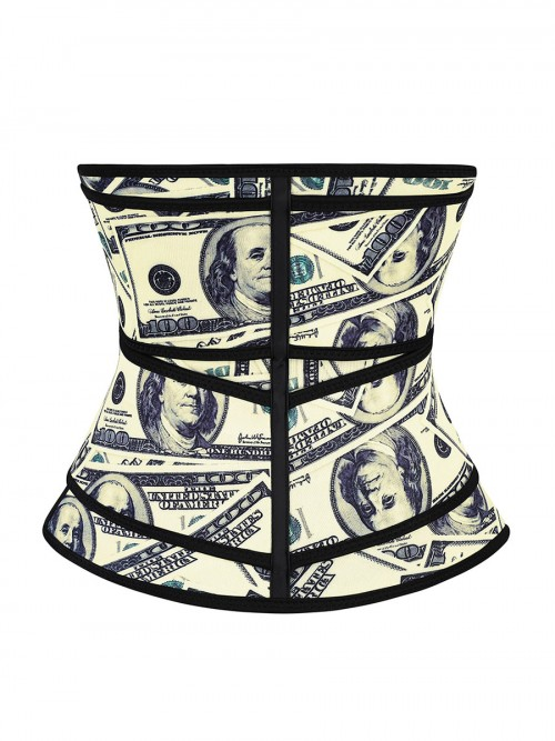 Double-Belt Latex Waist Trainer Dollar Pattern High Quality