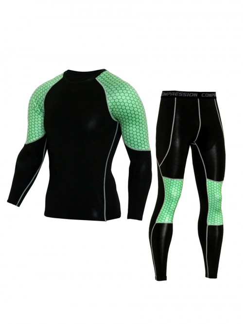 Entrancing Green Big Size Man Sport Suit Full Sleeves Stretchable