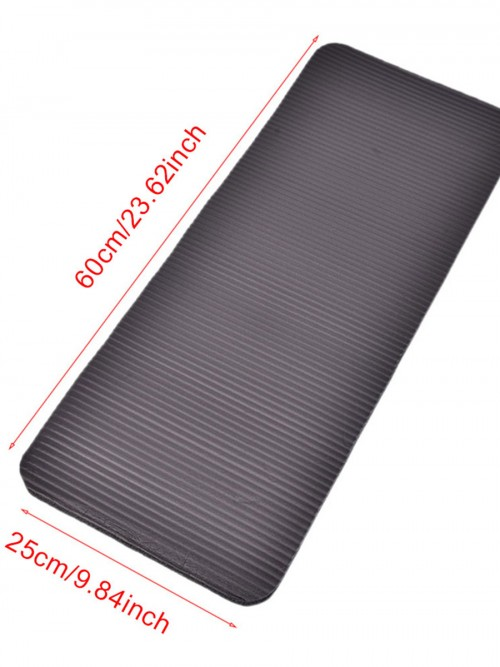 Black Yoga Exercise Mat Non Slip Solid Color