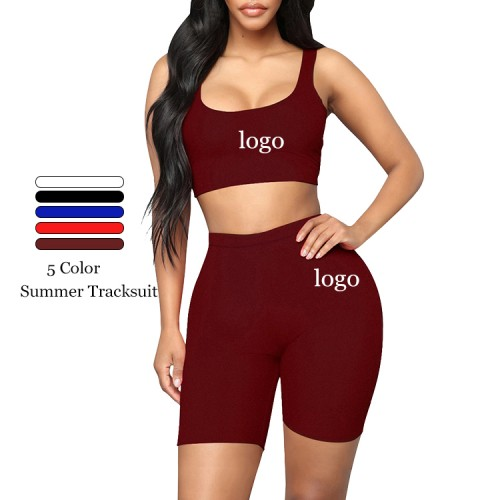 Wine Red Crop Sweat Suit Sleeves Solid Color Ladies Sportswear
