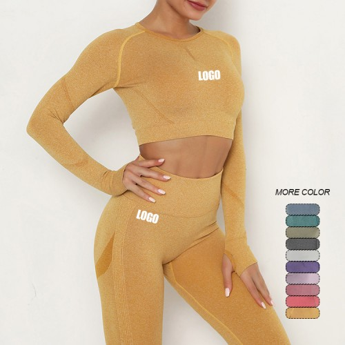 Faddish Yellow Round Collar High Rise Sweat Suit Online Wholesale
