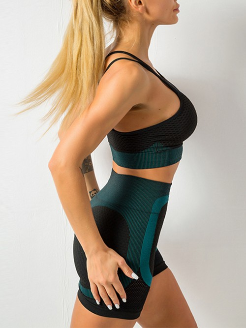 Fantasy Blackish Green Seamless Athletic Suit High Waist Best Workout