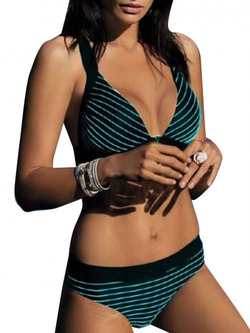 Royal Blackish Green Bikini Wireless Backless High Cut Online