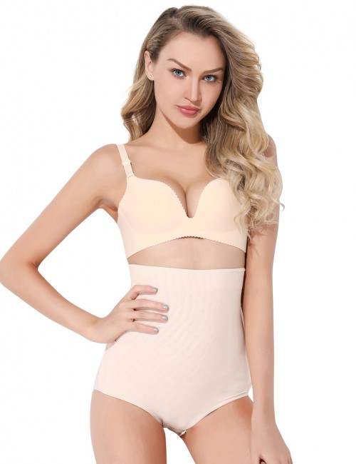Perfect-Fit Nude Sticker Booty Lifting Brief High Waisted Potential Reduction