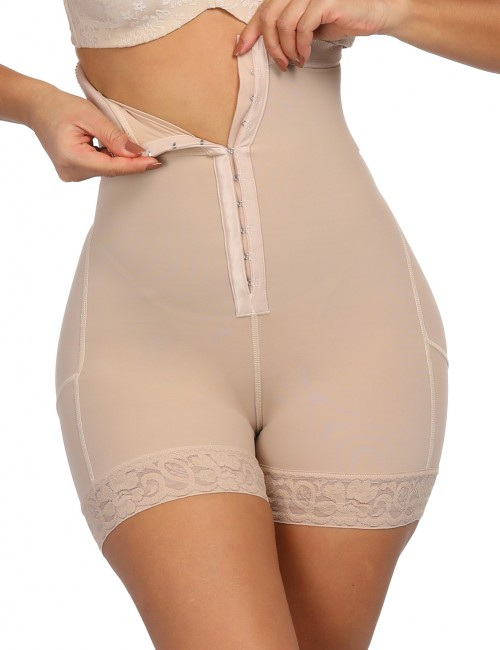 Smoothing Nude Plus Size High Waist Butt Enhancer Panty Moisture Wicking