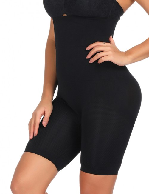 Ultra Black Seamless Butt Lifter Panty High Rise Medium Compression