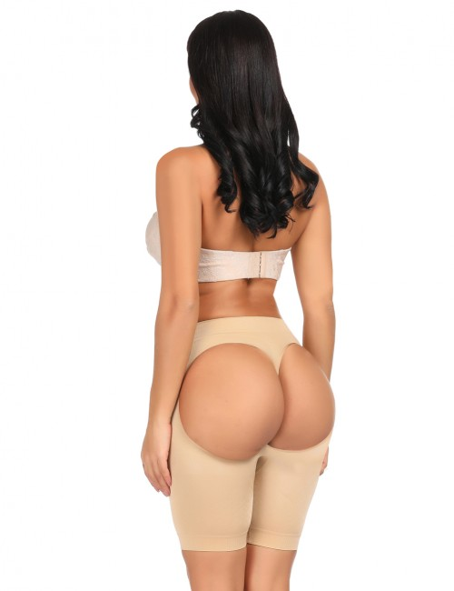 Compression Nude Open Bottom Butt Lift Panties Slimming Belly