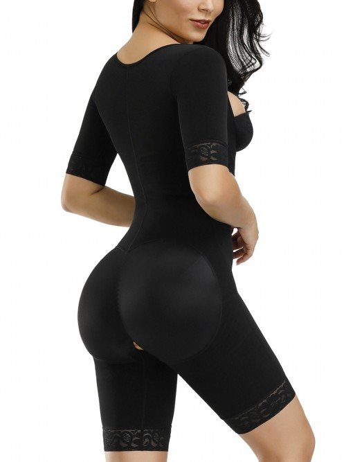 Sexy Black Butt Lifting Hooks Straps Full Body Shaper Stretch